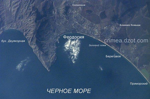 береговое, феодосия, карта