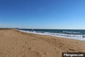 пляж к прибрежному зима
